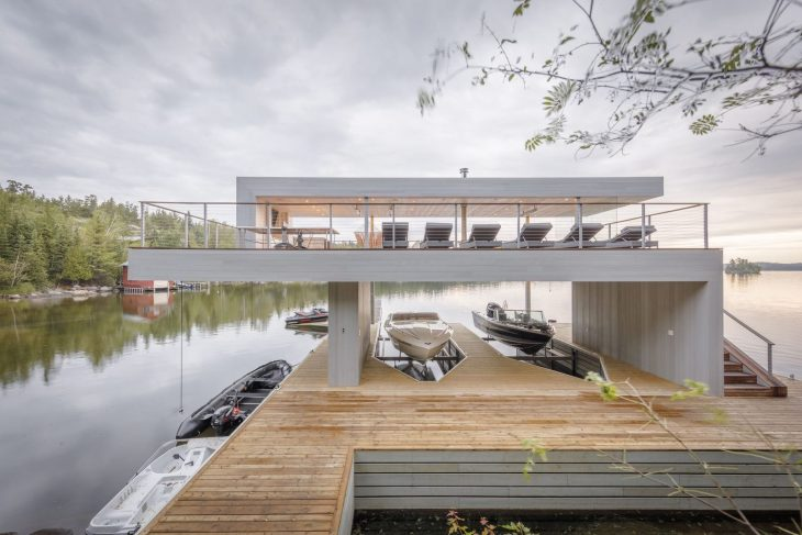 Boathouse by Cibinel Architecture