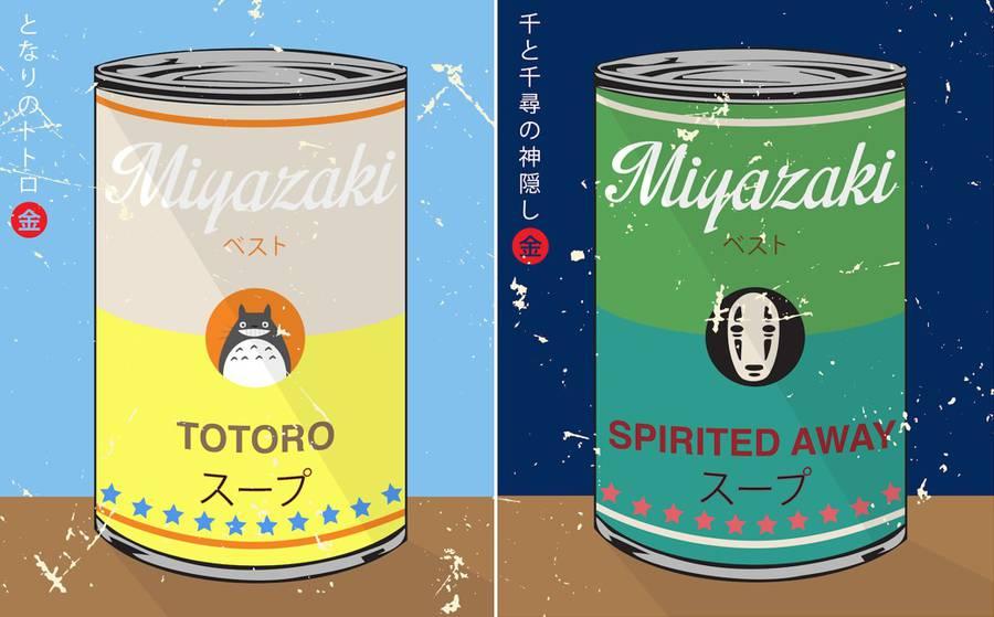 Miyazaki and Warhol Inspired Soup Series (12 pics)
