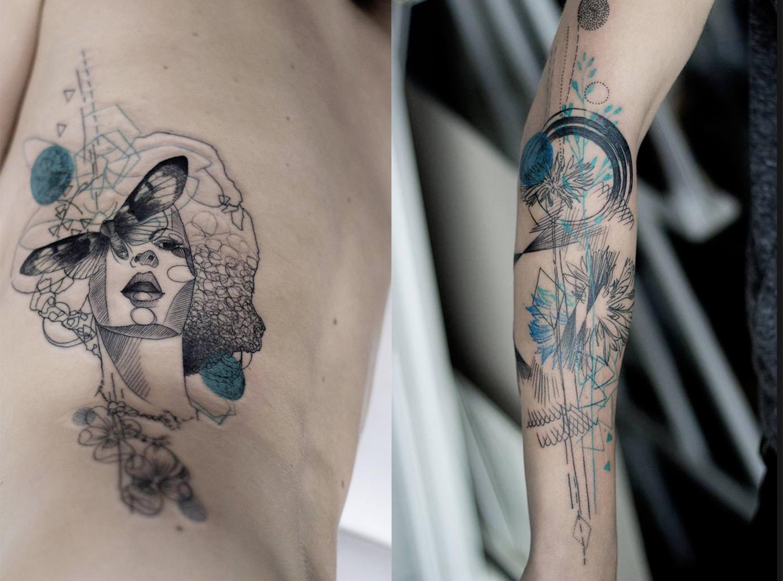 Tatuagens delicadas da natureza por Marta Lipinski