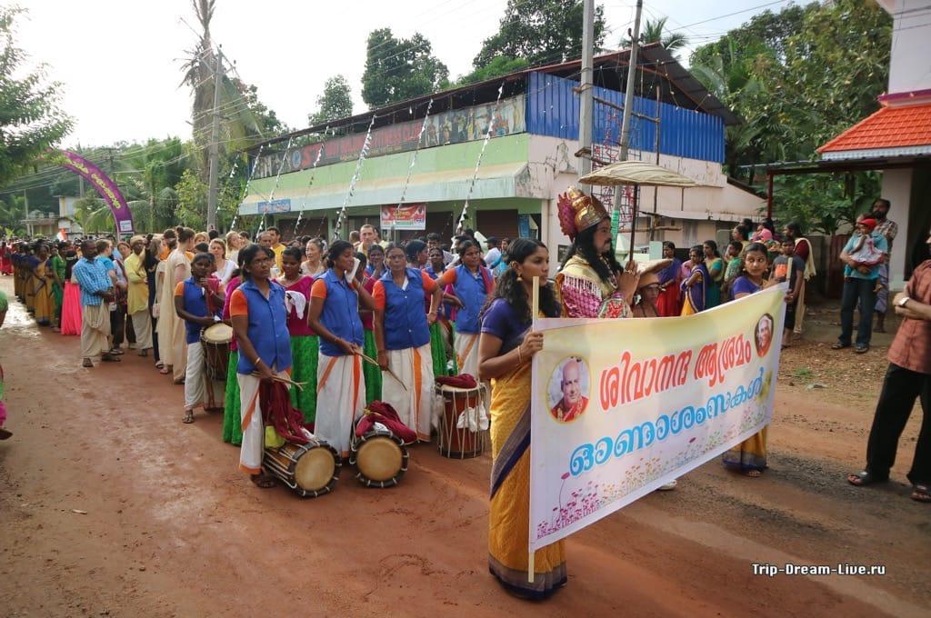 Царь Махабали возглавляет процессию