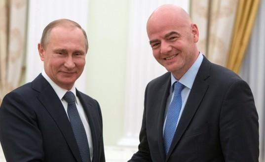 Владимир Путин обсудил с президентом ФИФА Джанни Инфантино подготовку к ЧМ-2018