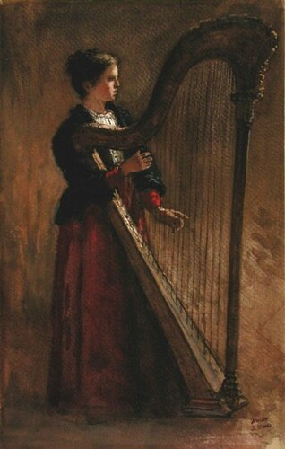 Jacob Henricus Maris (Dutch, 1837-1899) The Harpist. Musée des Beaux-Arts de Montréal, Canada