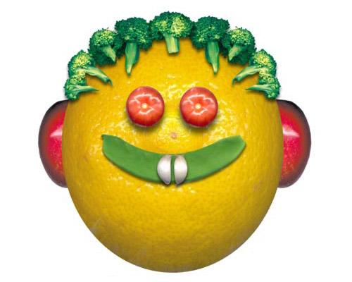 1 ноября. Всемирный день вегана. Симпатичный апельсин