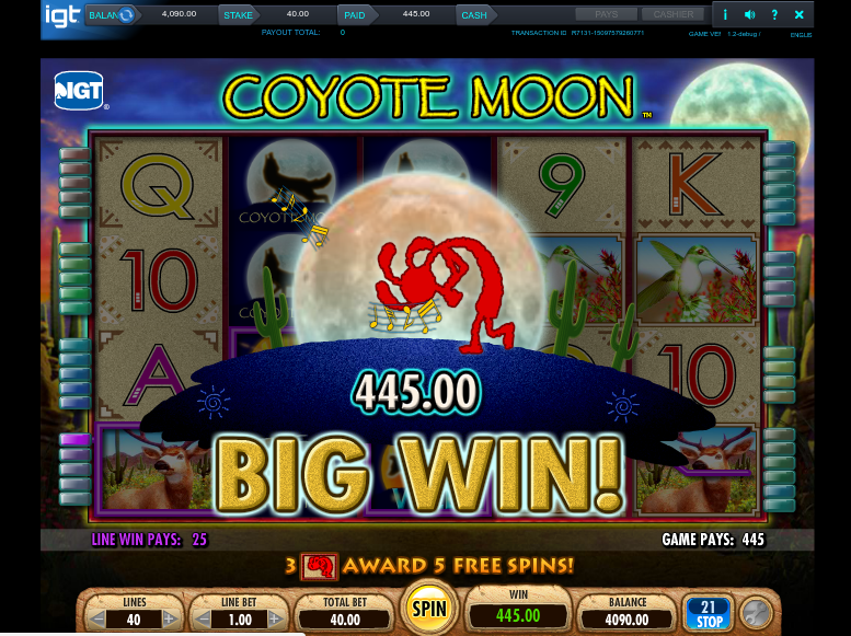 coyote moon big win