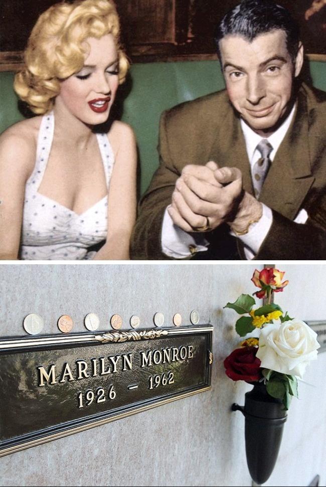 © wikipedia  © cultofweird  Легенда бейсбольного «Нью-Йорк Янкиз» Джо ДиМаджо был женат