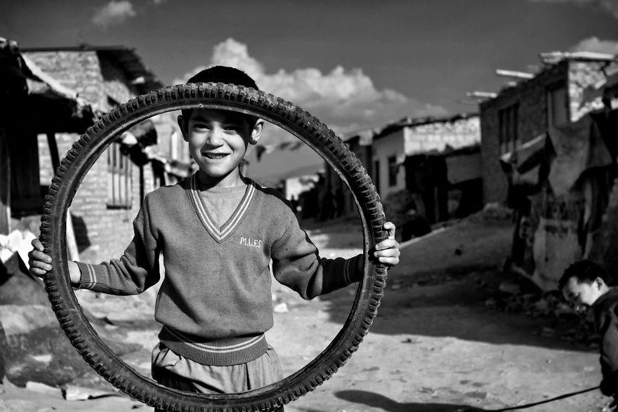 Дети в трущобах Катманду, Непал.
