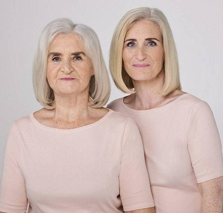 Слева: 73-летняя Эстер Саваж, пенсионерка. Она замужем и живет на острове Шеппи в графстве Кент. Спр
