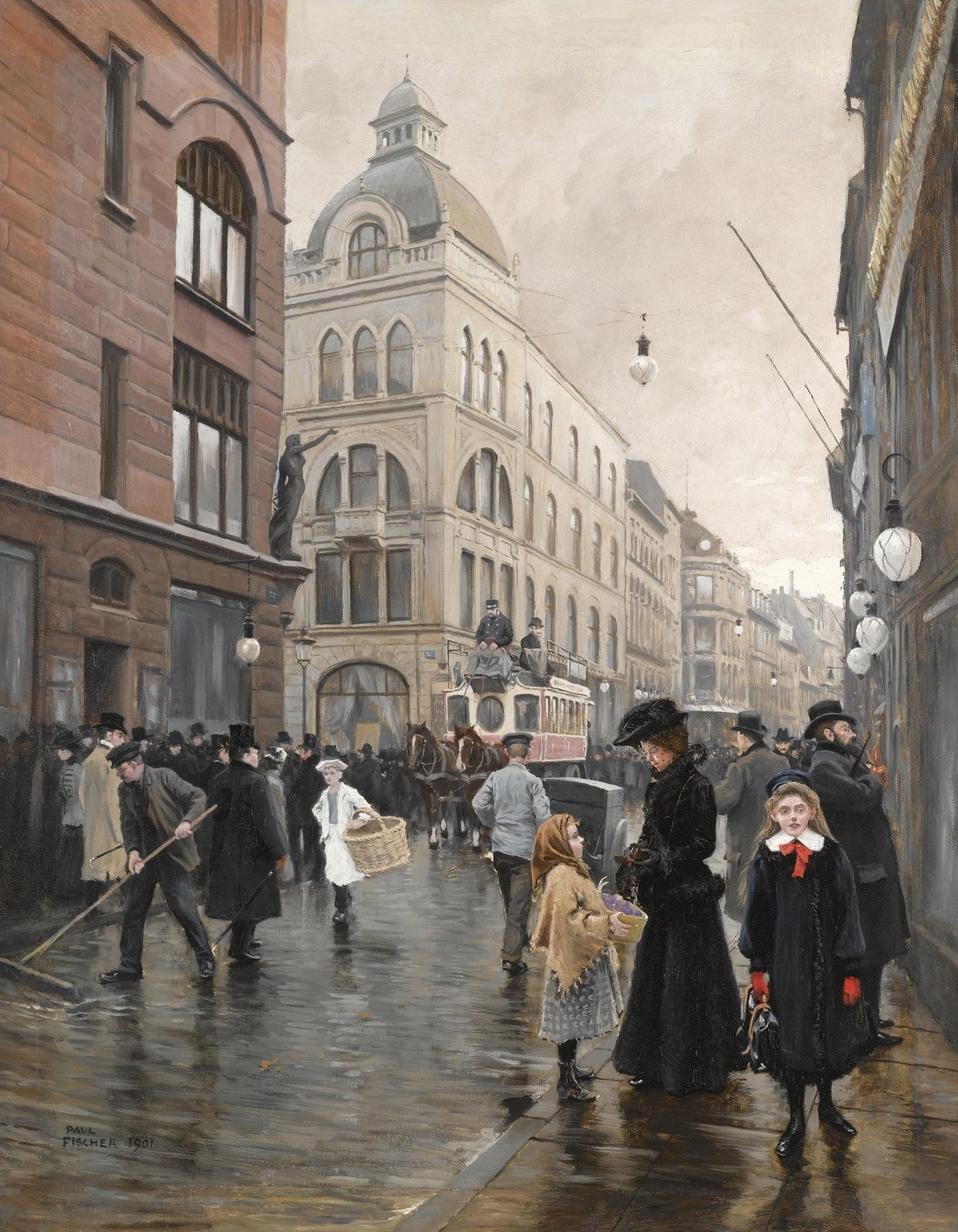 Поль Фишер(Paul-Gustave Fischer,1860-1934)-датский живописец,пейзажист и жанрист.Часть 3.