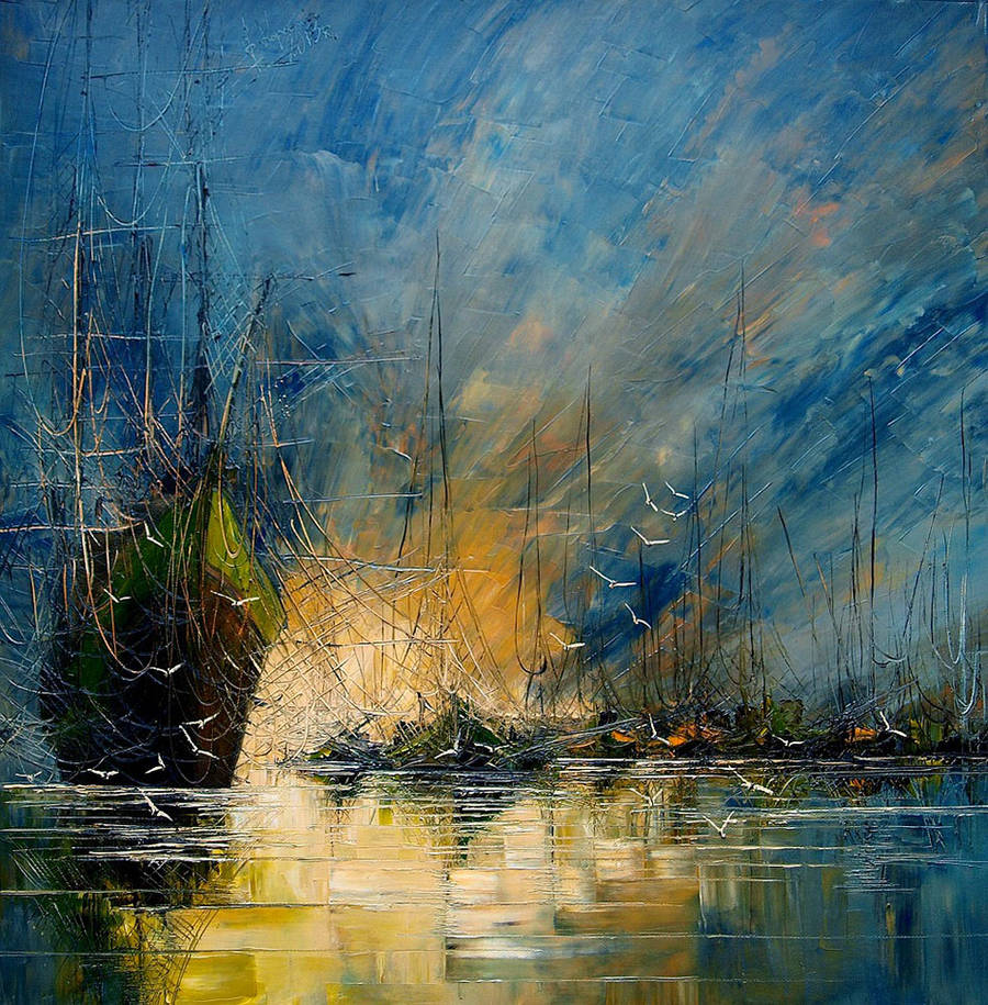 Melancholic Paintings of Seascapes and Vintage Ships (9 pics)