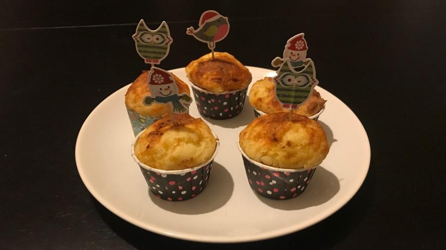 Ароматные и нежные сырные кексы