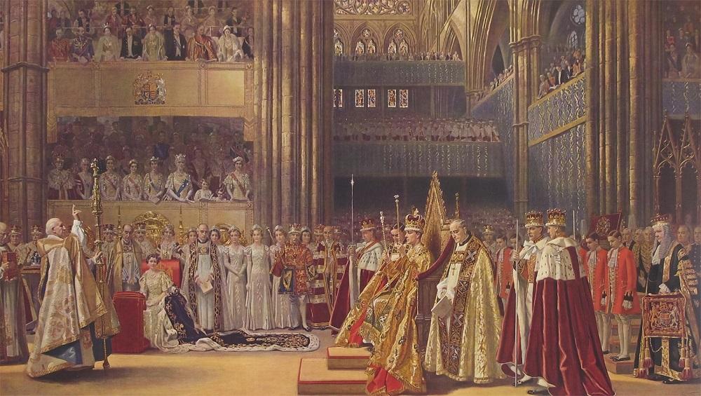 Коронация Георгия VI и королевы Елизаветы в Вестминстерском аббатстве.Jpeg