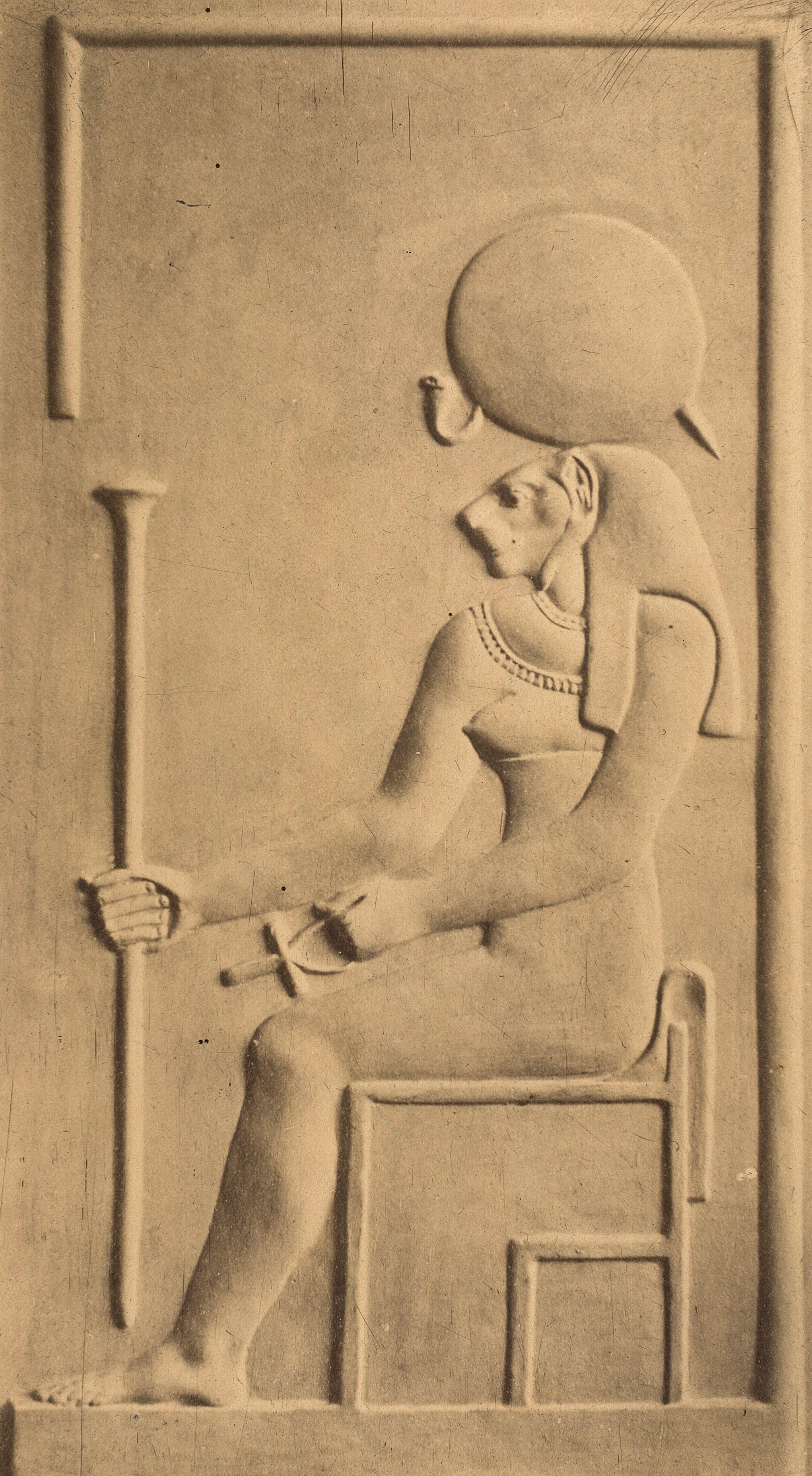 Рельеф с изображением египетской богини Баст