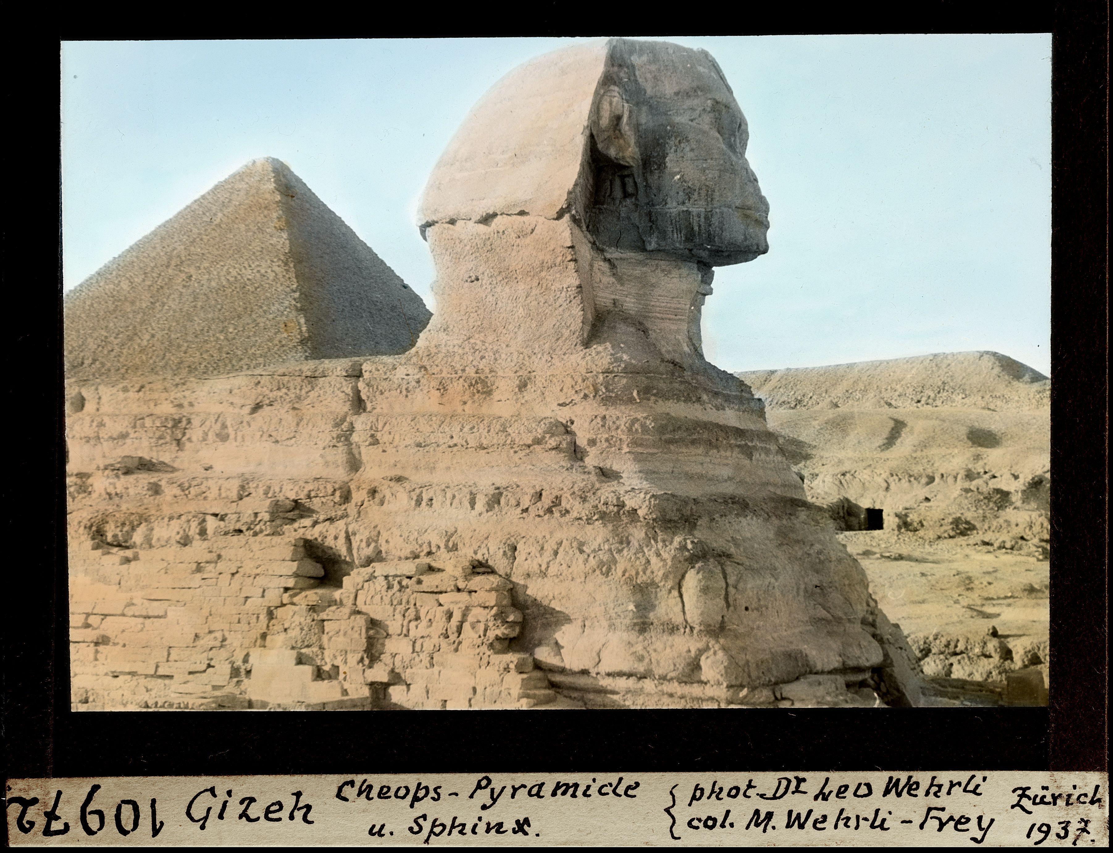Гиза. Пирамида Хеопса и Сфинкс