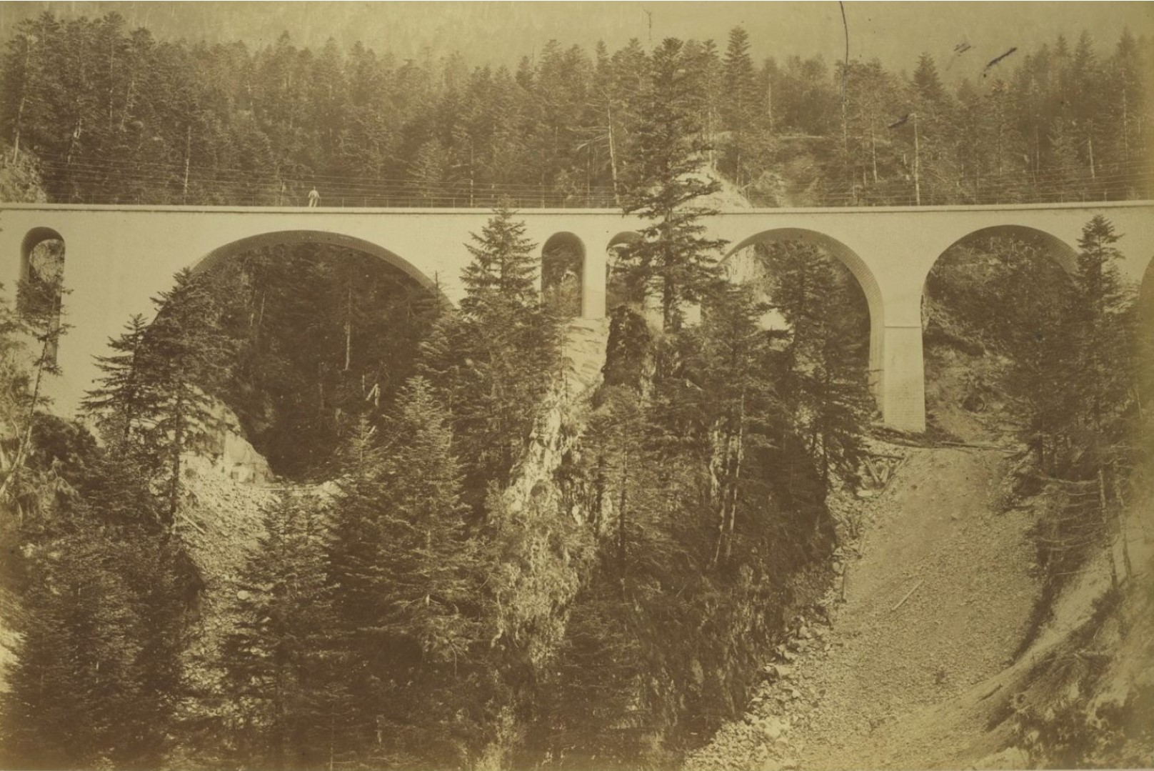 1868. Канталь. Железнодорожный мост