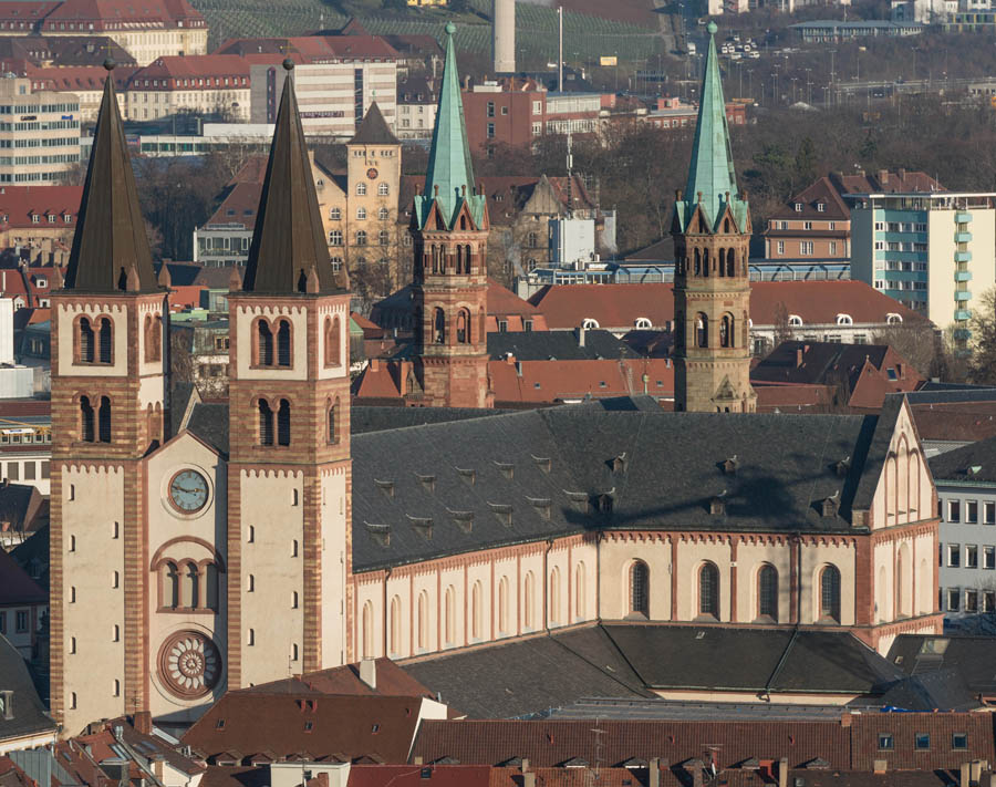 St. Killian, WГјrzburger Dom, as seen from Festung Marienburg