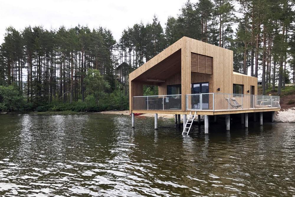 Дом на озере в Норвегии