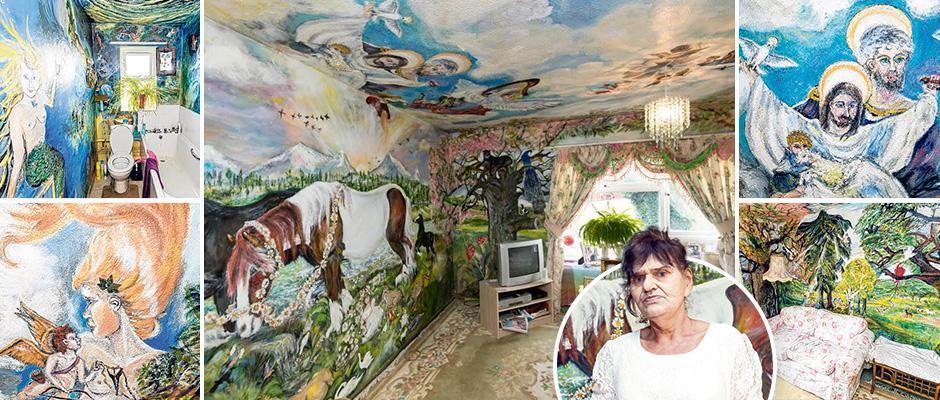 Британская пенсионерка полжизни превращает квартиру в мини-Сикстинскую капеллу