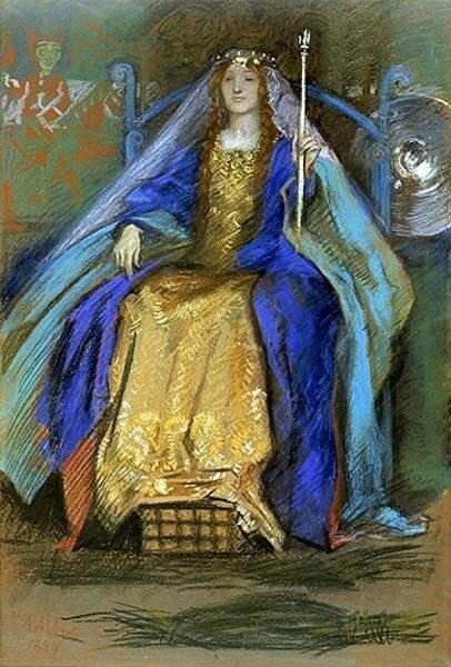 Edwin Austin Abbey - Кельтская королева