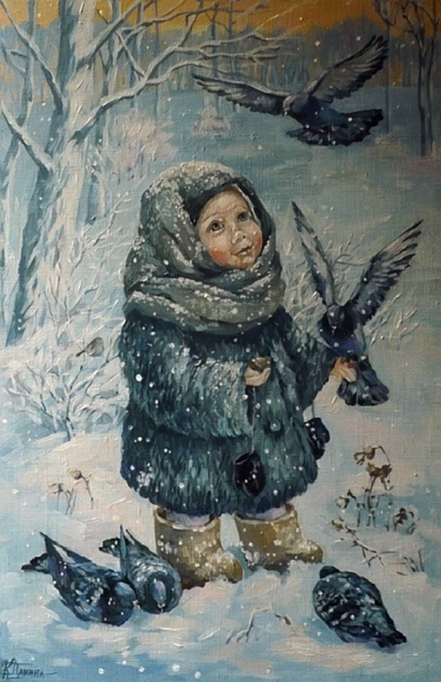 Зимняя радость / Художник Кира Панина