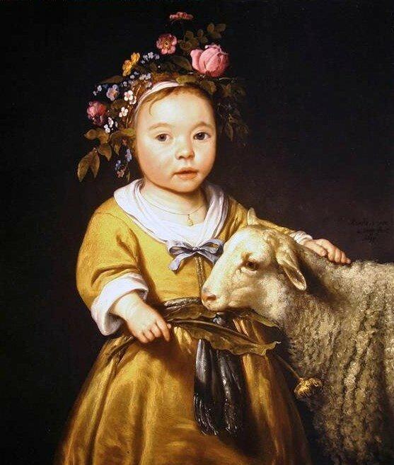 16-18C Дети собирают настоящих и символических овец и козлов и отправляются в Сады