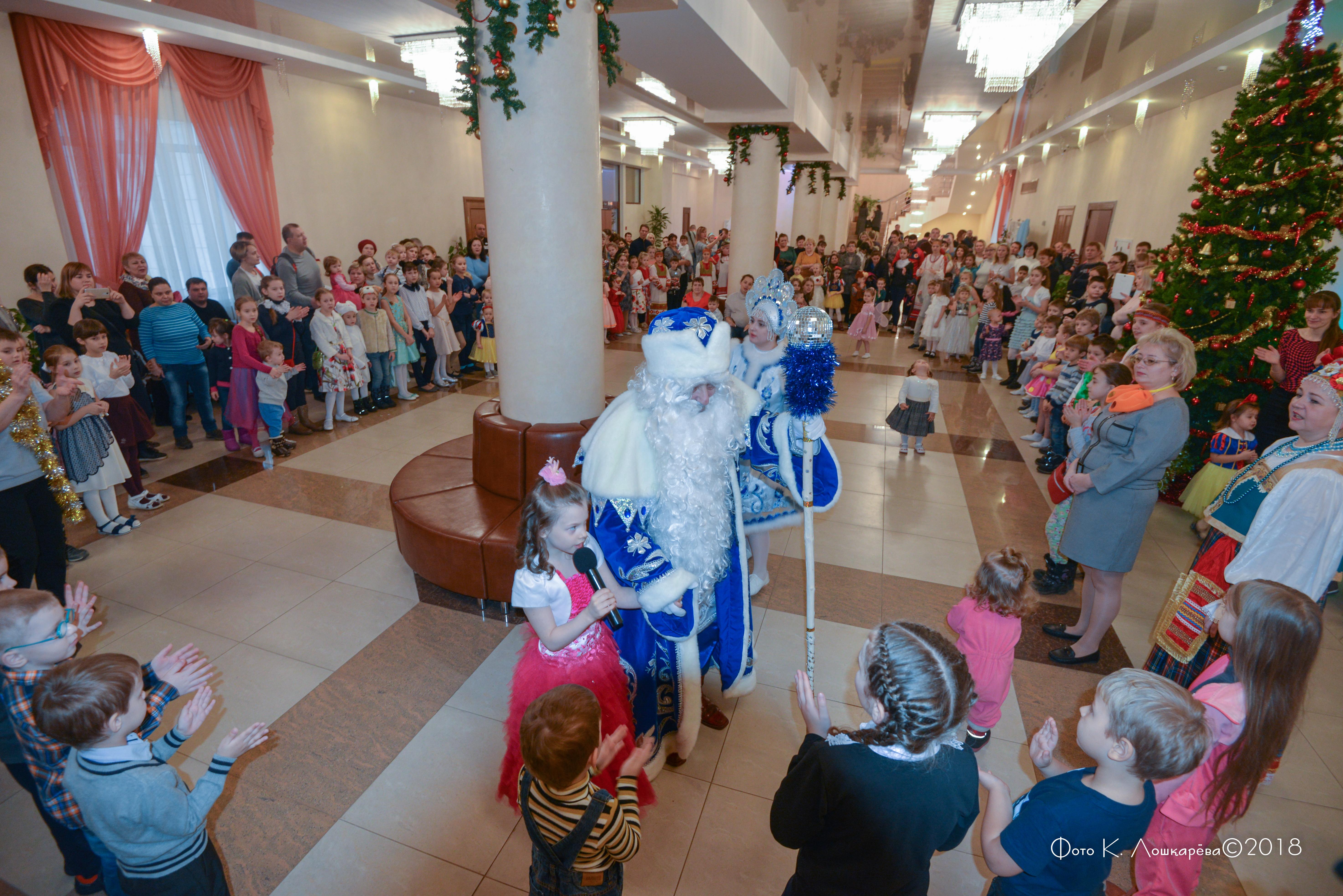 Дед Мороз принимает гостей