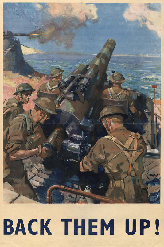 Back them up! - Cuneo (1907-1996, WWII).