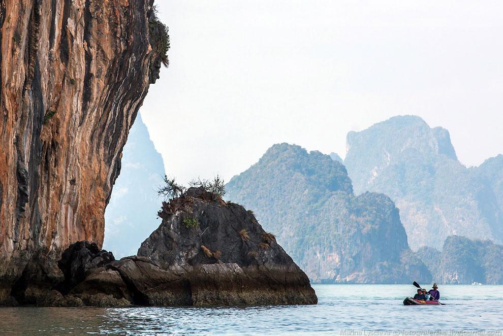Высаживаемся на остров Пинг Кан — соседствующий с островом Бонда.