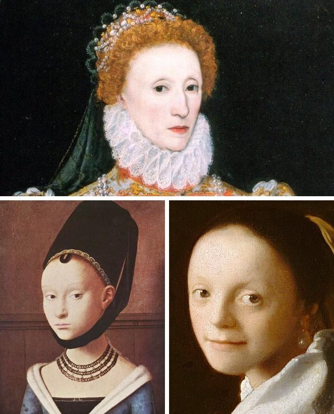 © wikipedia  © Petrus Christus/wikipedia  © Jan Vermeer/wikipedia     Волосы
