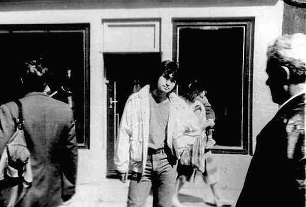 А это последний снимок Виктора Цоя. В смысле, последний вообще в его жизни.