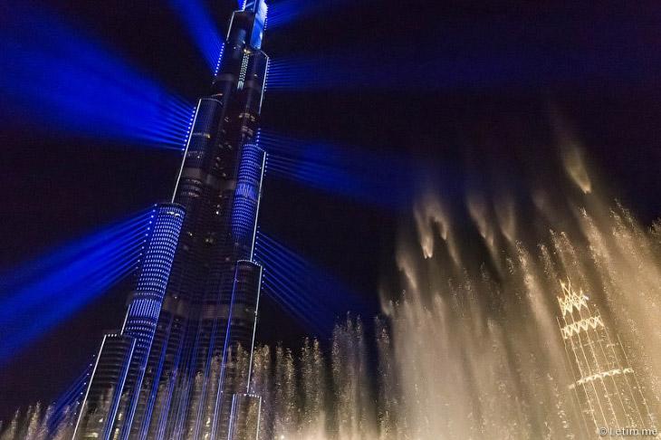 Лазерное шоу в Дубае (25 фото)
