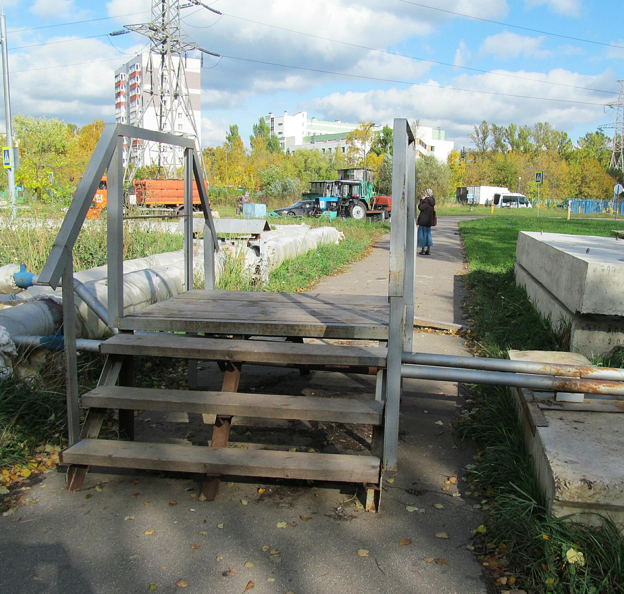 мостик через трубы