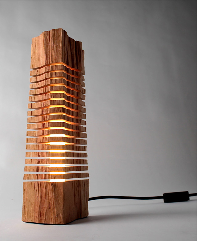 Minimalist Split Wood Lights and Sculptures by Split Grain (7 pics)