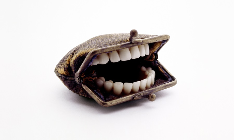 Everyday objects take an unusual turn in Nancy Fouts ' bizarre sculptures. Playing with unexpe
