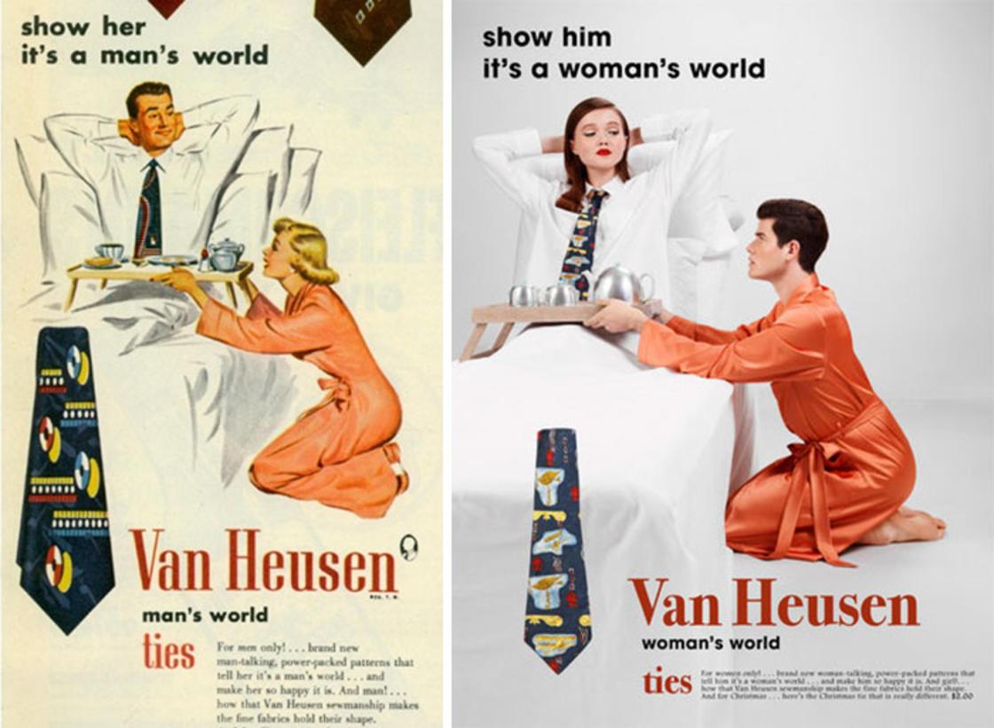 Recreer les publicites vintage sexistes en inversant les roles (10 pics)