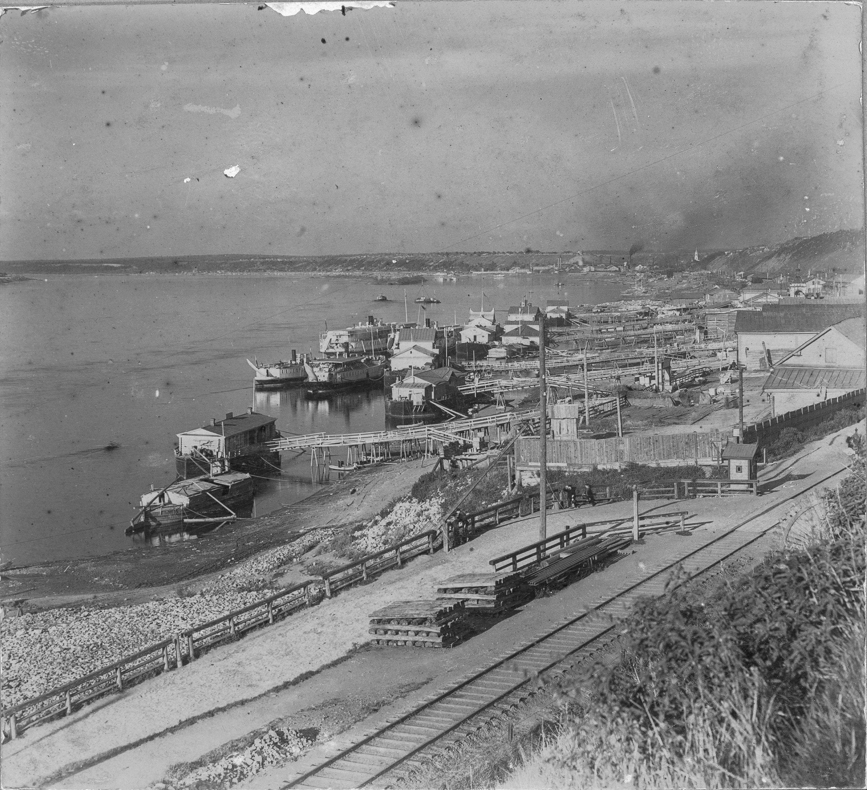 Пристани на Каме. 1909