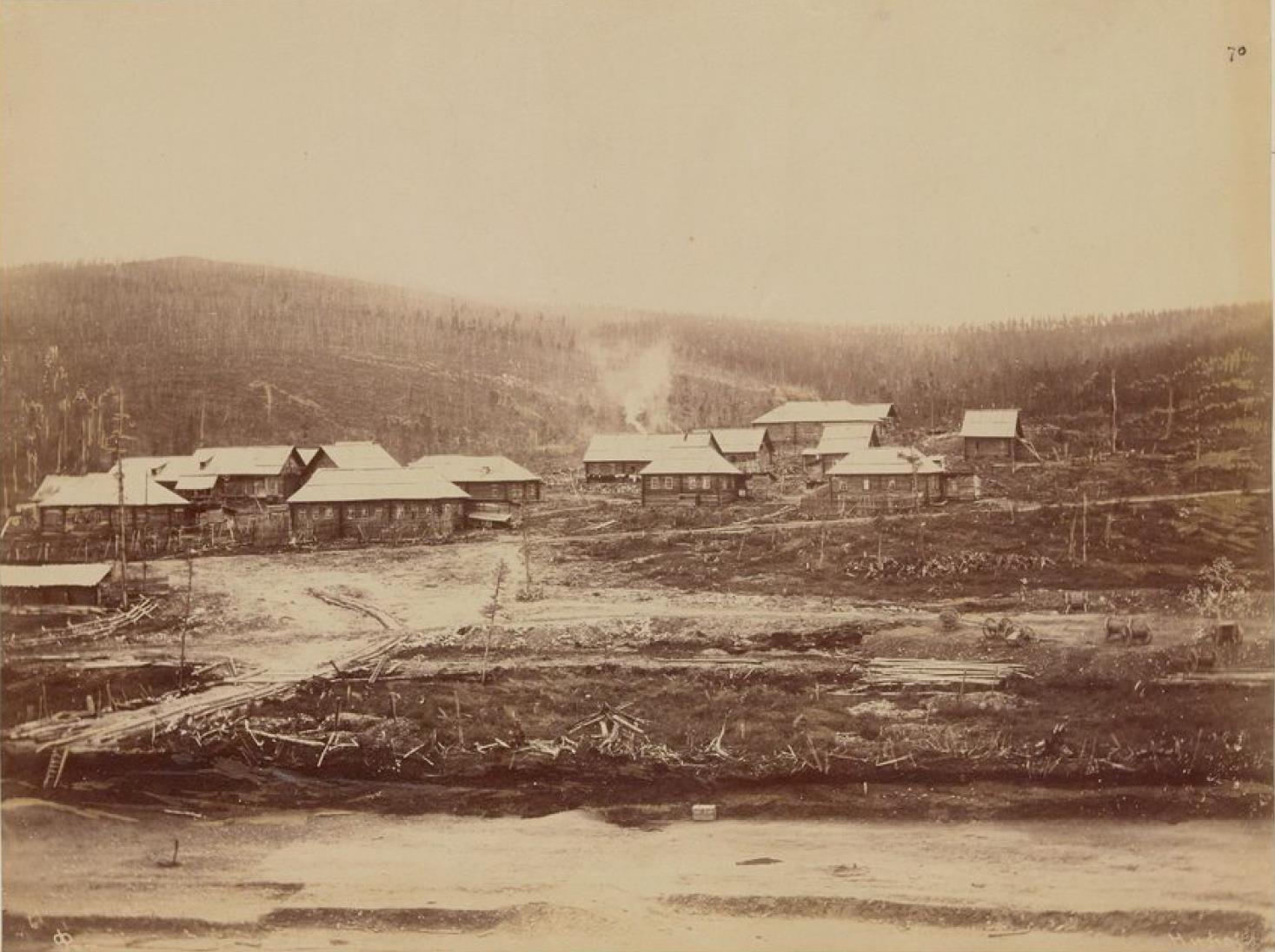 Дома золотоискателей в лесах Амура