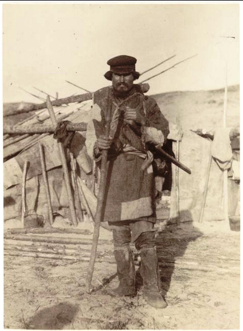 Охотник за осенним валежником. Васюган