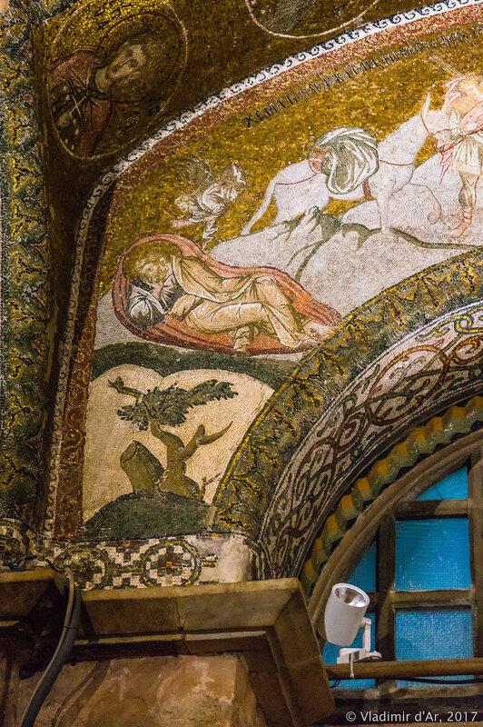 Сон Иосифа. Мозаики и фрески монастыря Хора.
