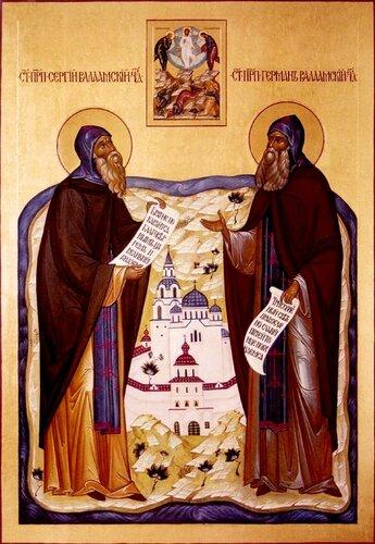 Святые Преподобные Сергий и Герман Валаамские.