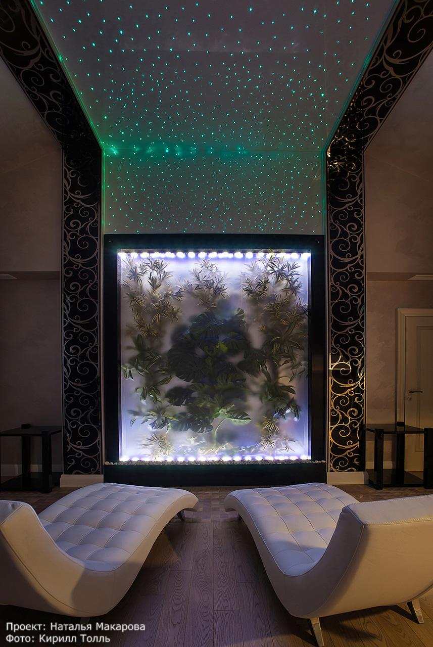 диодная подсветка интерьера. фотосъемка