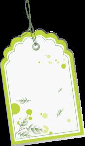 зеленые бирки