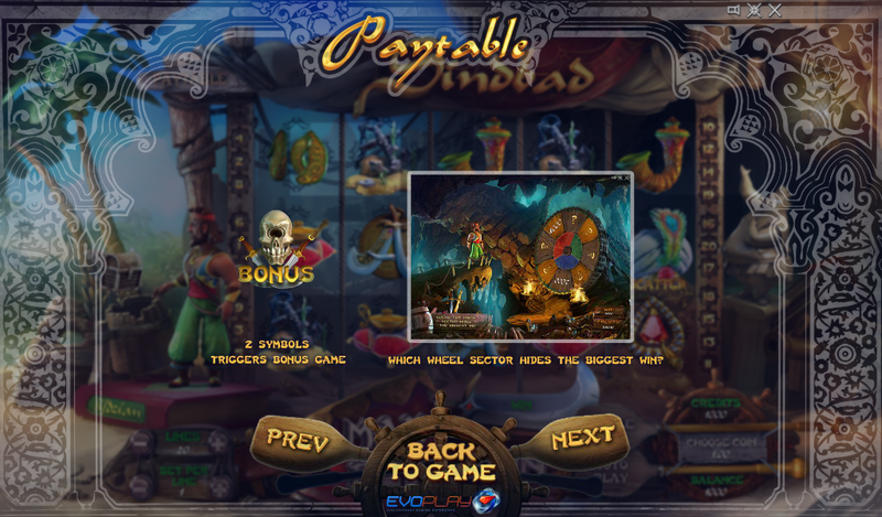 sindbad slot bonus game