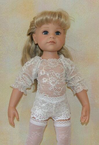 блузка,гипюр,эластичное кружево,одеваеи куклу,кукольная мода,рукоделие,шьём