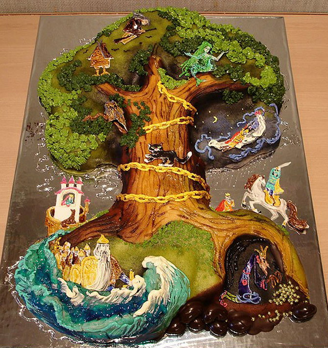 Необычные торты от Жанны Зубовой (23 фото)