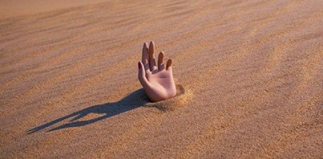 Можно ли утонуть в зыбучем песке? (1 фото)