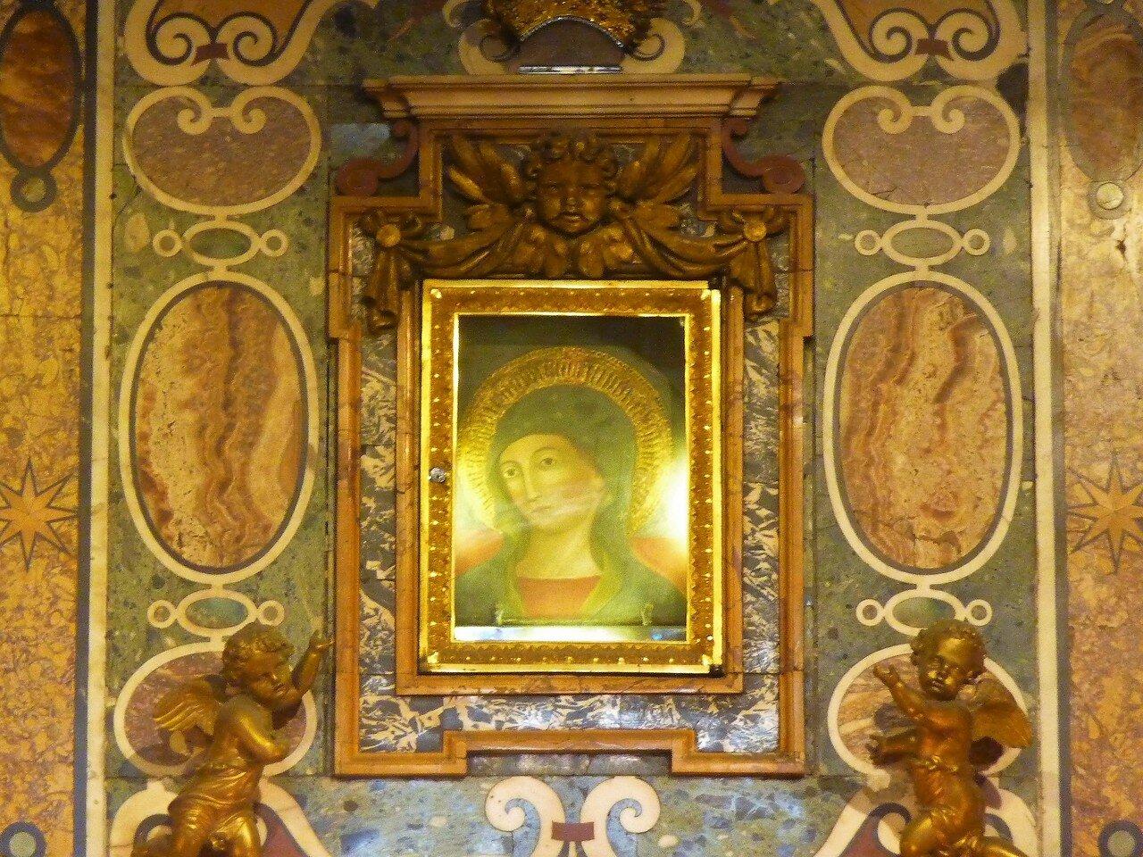 Икона Madonna del Pozzo, на камне 13 века
