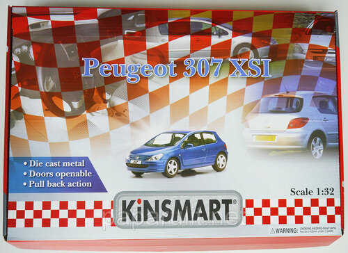 Машинка Kinsmart Peugeot 307 XSI