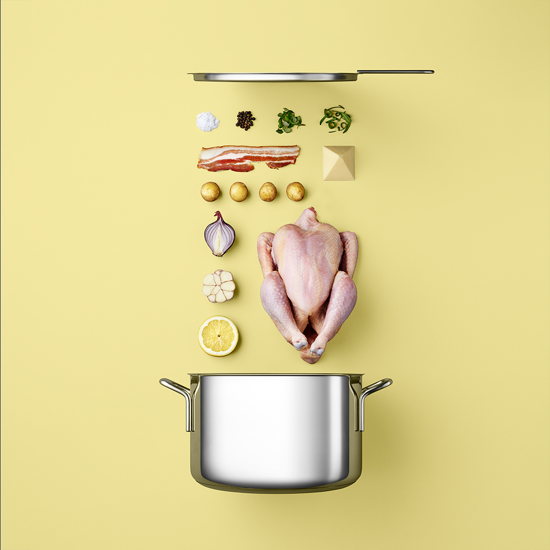 Recipes Organized into Component Parts in Food Styling Photos by Mikkel Jul Hvilshoj