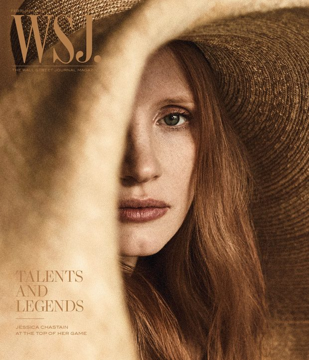 Jessica Chastain Stars in WSJ. Magazine Talents & Legends Issue (4 pics)