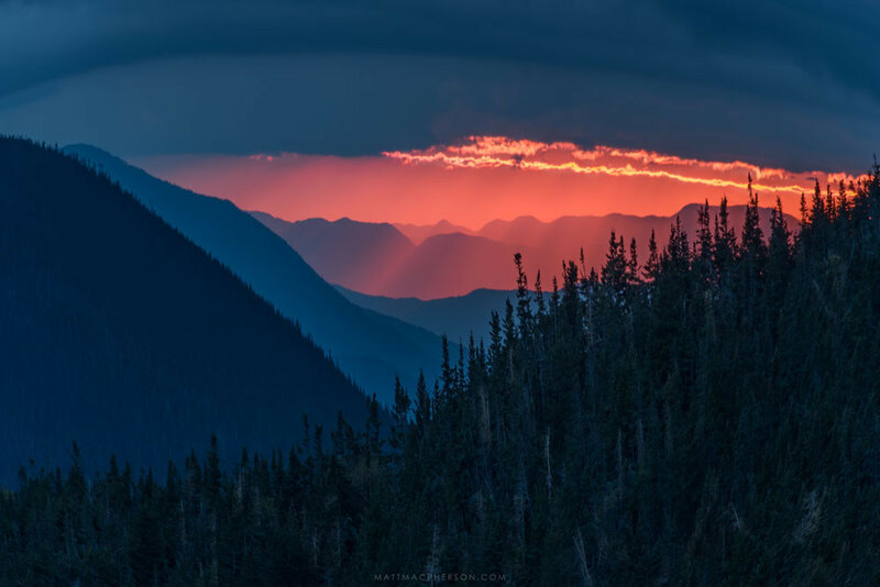 Sunset on Mount Carrigain, New Hampshire